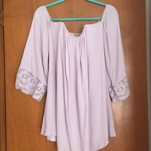 Off the shoulder lilac Charlotte Russe dress